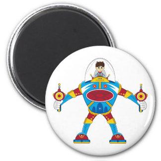 Spacemen In Giant Mecha Robot Refrigerator Magnet