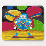 Spacemen In Giant Mecha Robot Mouse Pad