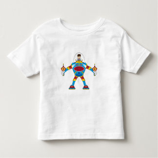 Spacemen In Giant Mecha Robot Toddler T-shirt