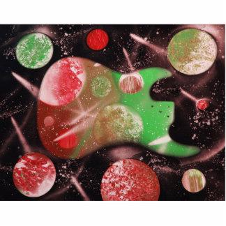 spacepaintin verde rojo del musical de los planeta