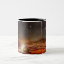 universe, space, rocks, scene, planets, meteors, stars, star, science fiction, planet, sci fi, digital, eerie, art, scenery, weird, unique, fiction, houk, artwork, mood, mountains, ground, hot, landscape, school, back to school, Mug with custom graphic design