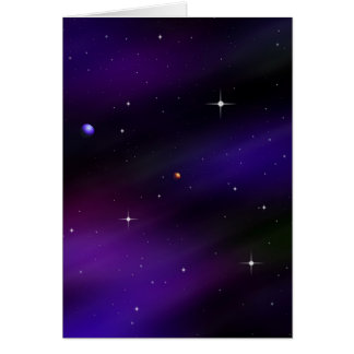 Spacescape With Planets and Stars Card