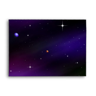 Spacescape With Planets and Stars Envelope