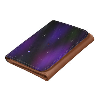 Spacescape With Planets and Stars Wallet
