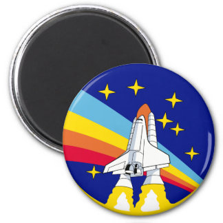 Spaceship Badge 2¼ Inch Round Magnet