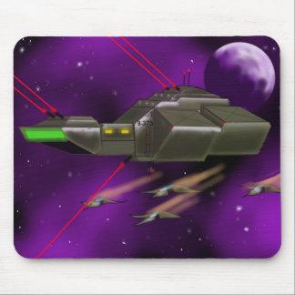 Spaceship Battle Cruiser Mousepad