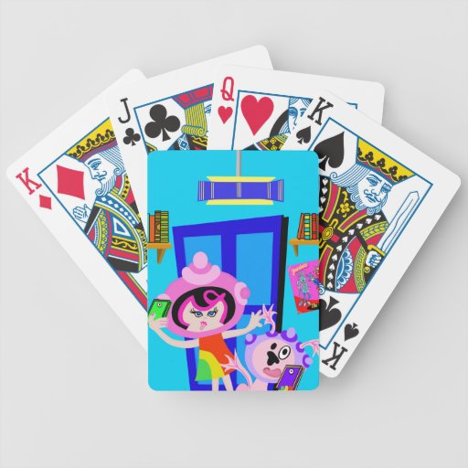 Spaceship Betty and Bubblegum Do a Selfie Bicycle Poker Deck