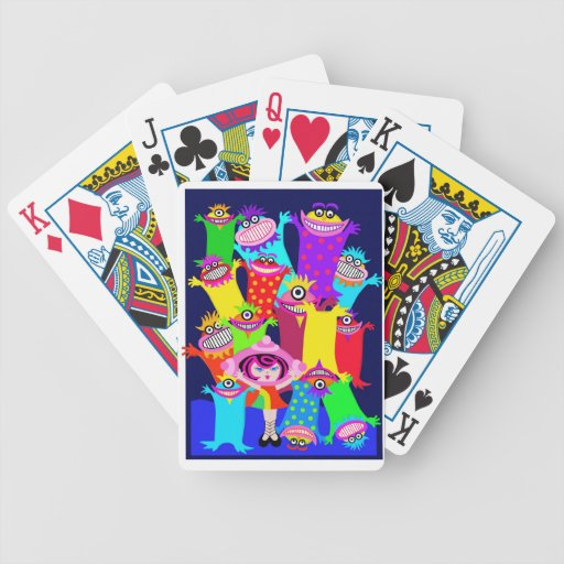 spaceship Betty and the Magical Monsters Bicycle Card Decks
