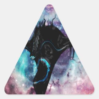 spaceship black triangle sticker