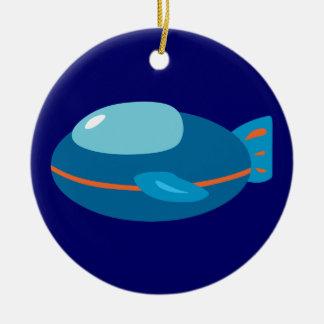 Spaceship Ceramic Ornament