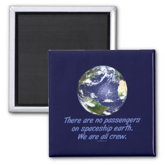 Spaceship Earth, Environment 2 Inch Square Magnet