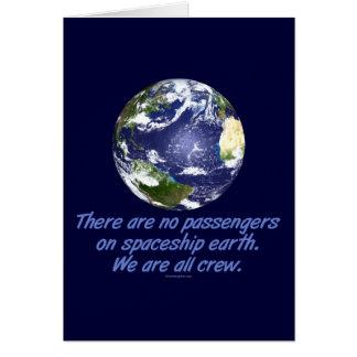 Spaceship Earth Environment Greeting Card