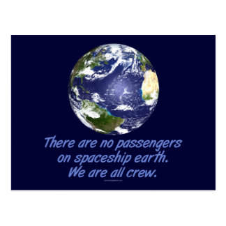 Spaceship Earth, Environment Postcard