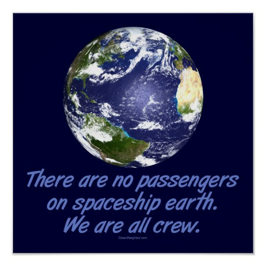 Spaceship Earth, Environment Poster