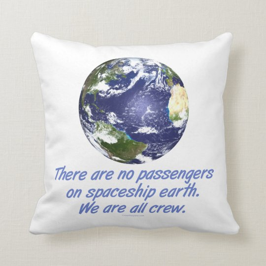Spaceship Earth, Environment Throw Pillow