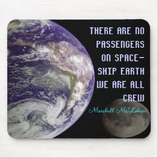spaceship earth mousepad