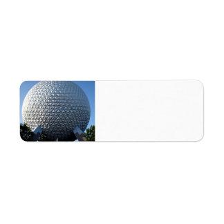 Spaceship Earth Return Address Labels