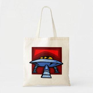 spaceship eyes tote bag
