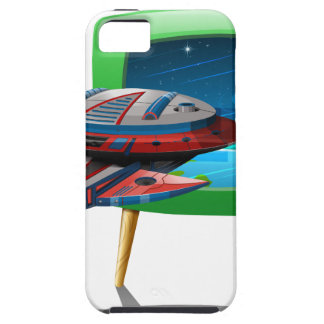 Spaceship flying in the space on TV iPhone SE/5/5s Case