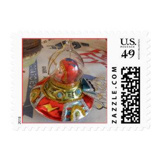 Spaceship Glass Christmas Ornament Stamp