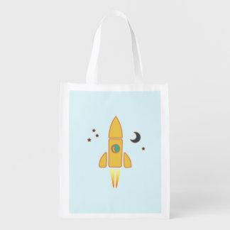 Spaceship Grocery Bag