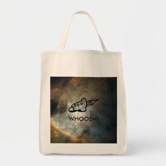 Spaceship Pictogram over Nebula Tote Bag