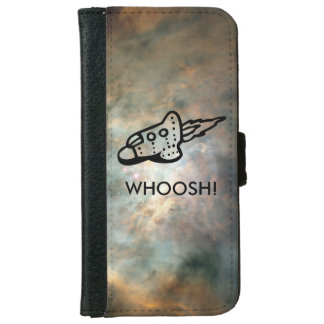 Spaceship Pictogram over Nebula Wallet Phone Case For iPhone 6/6s