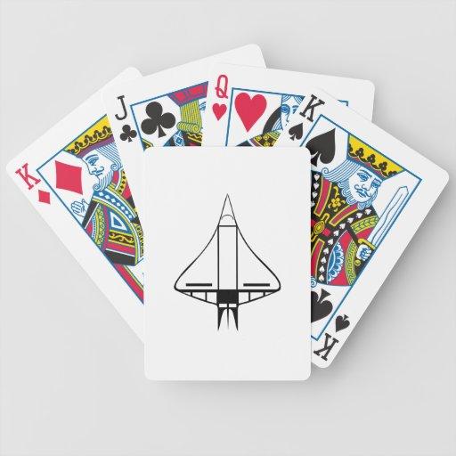 Spaceship Bicycle Poker Cards