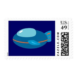 Spaceship Postage Stamp