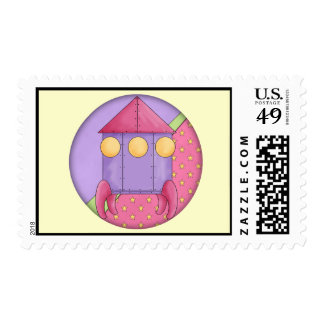 Spaceship Postage Stamps
