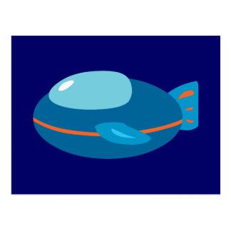 Spaceship Postcard