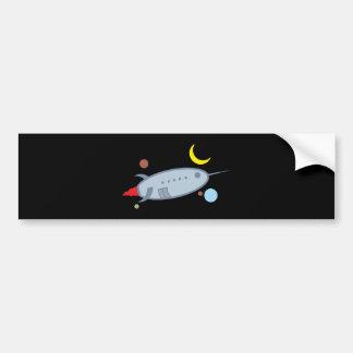 Spaceship spaceship bumper sticker