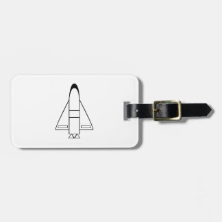 Spaceship Tag For Bags