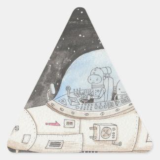 Spaceship Triangle Sticker