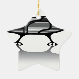 Spaceship vector ceramic ornament