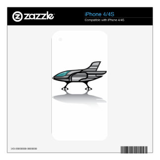 Spaceship vector decal for iPhone 4