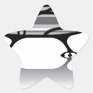 Spaceship vector star sticker