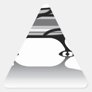 Spaceship vector triangle sticker