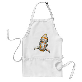 Spaceship with wings on white background adult apron
