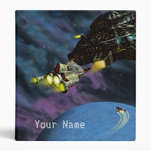 Spaceships Binder with Your Name