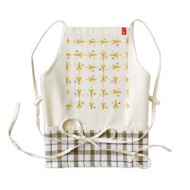 Spaceships pattern zazzle HEART apron