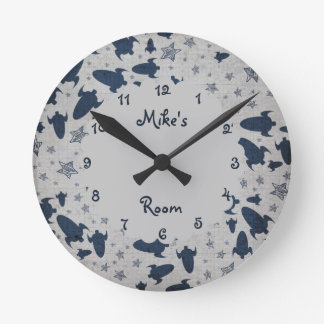 Spaceships Personalized Boy s Bedroom Clocks