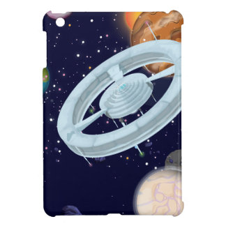 Spacestations and Planets iPad Mini Covers