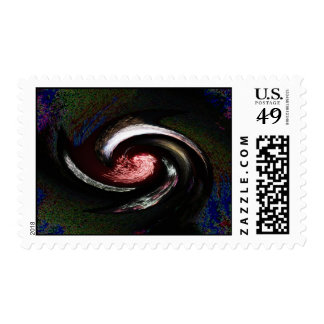 Spacetime moved postage stamps