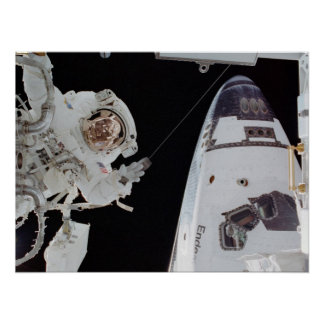 Spacewalk at the International Space Station Poster