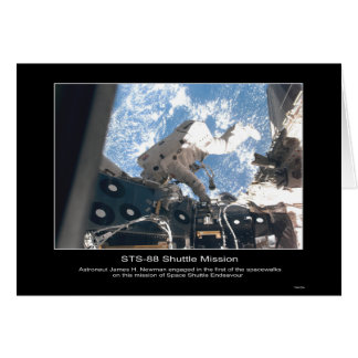 Spacewalk de James H. Newman del astronauta de la  Tarjeta De Felicitación