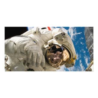 Spacewalk del vendedor de los embarcaderos tarjetas con fotos personalizadas