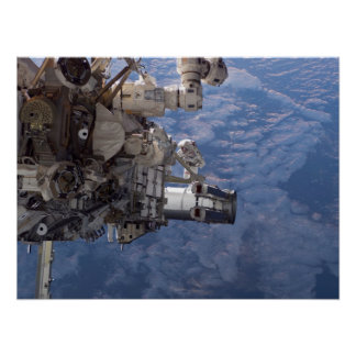 Spacewalk & ISS (STS-115) Poster