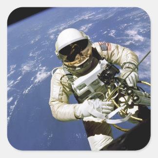 Spacewalk Pegatinas Cuadradas