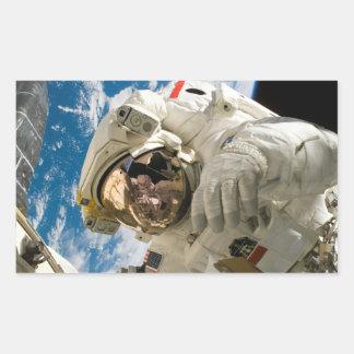 Spacewalk Rectangular Sticker